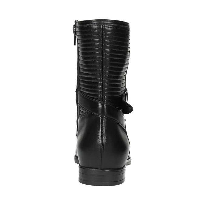 Dámská kotníčková obuv s prošíváním bata, černá, 594-6616 - 17