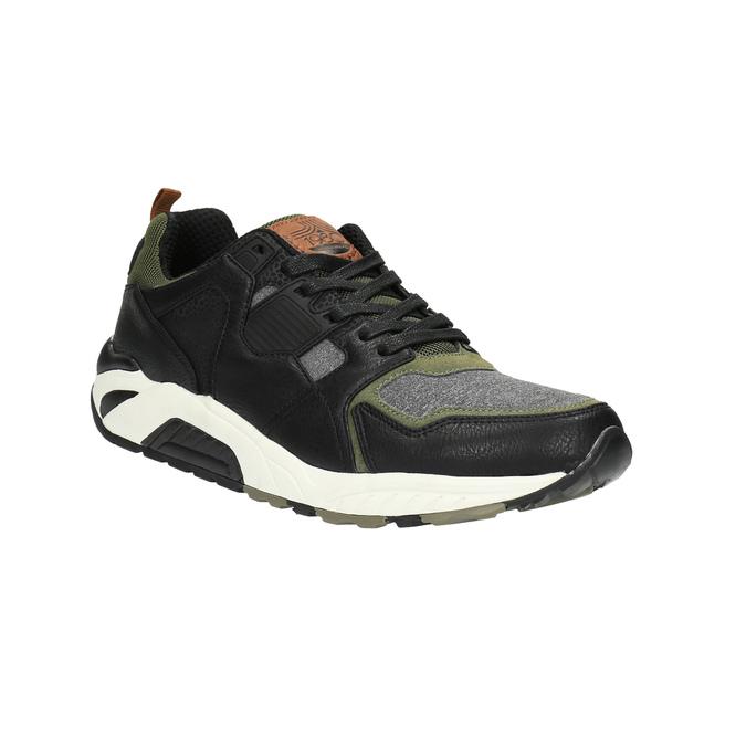 Pánské tenisky na výrazné podešvi bata, černá, 841-6604 - 13