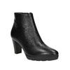 Kožená kotníčková obuv na podpatku hogl, černá, 794-6019 - 13