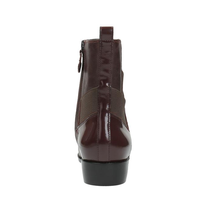 Kožená kotníčková obuv s pružením geox, červená, 514-5030 - 17