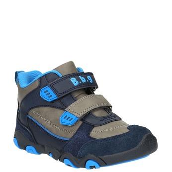 Chlapecká kotníčková obuv na suché zipy bubblegummer, šedá, 291-2600 - 13