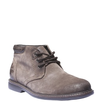 Pánské semišové boty bata, hnědá, 893-4261 - 13