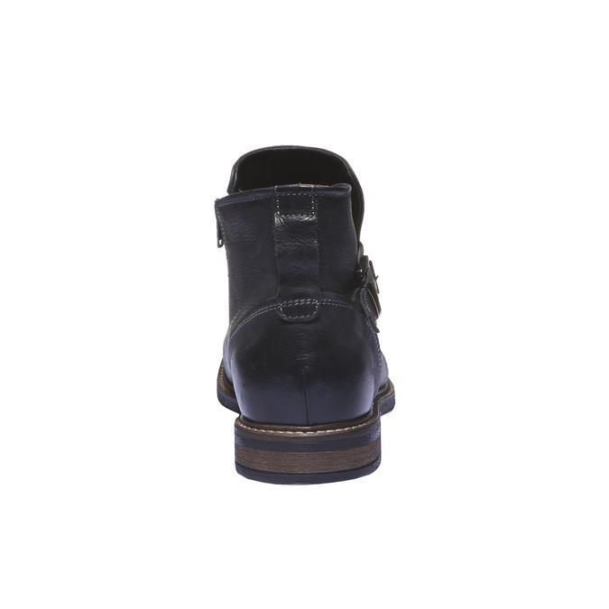 Kožená kotníčková obuv bata, černá, 894-6107 - 17
