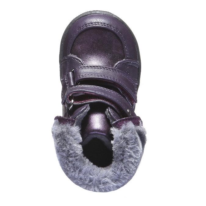 Dětské kotníkové boty s kožešinkou mini-b, fialová, 121-9102 - 19