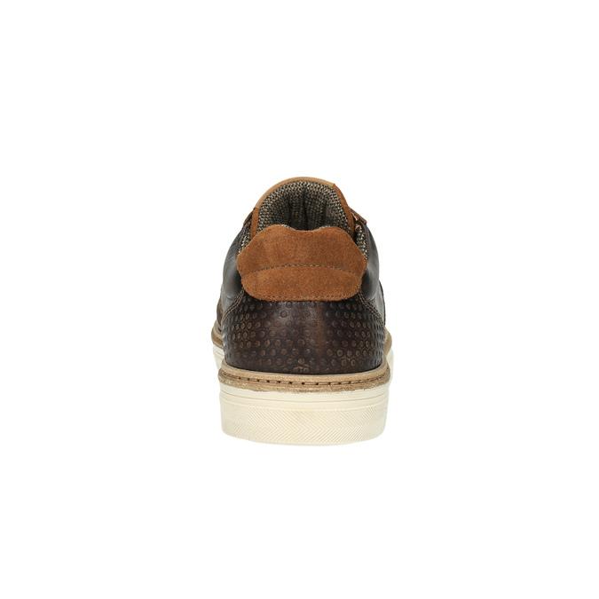 Pánské kožené tenisky bata, hnědá, 846-4605 - 17