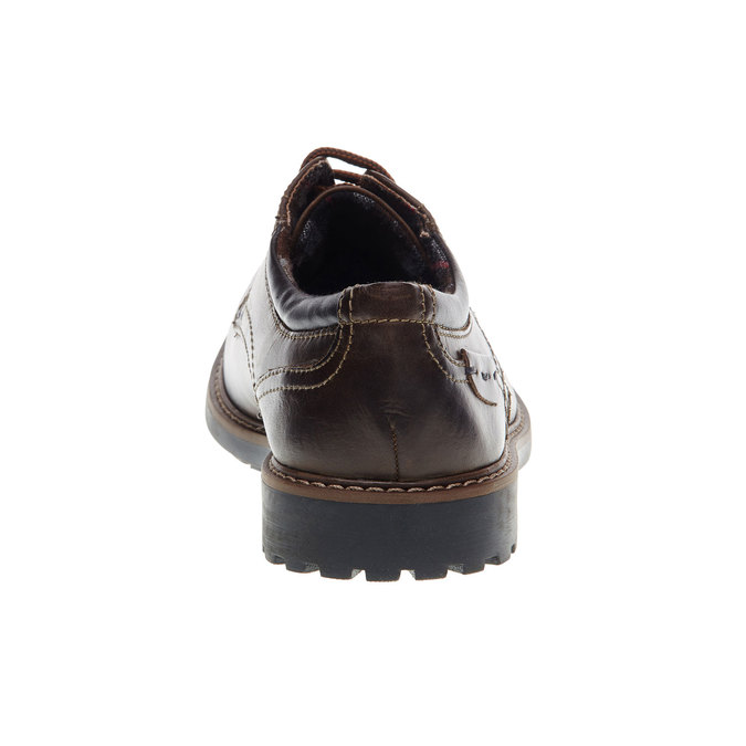 Pánské kožené polobotky bata, hnědá, 824-4134 - 17