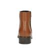Kožená kotníčková obuv se zipem bata, hnědá, 594-3518 - 17