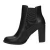 Kotníčková obuv na podpatku s přezkou bata, černá, 791-6610 - 26