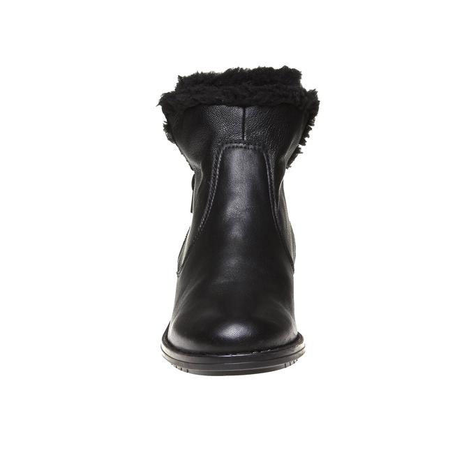 Genie - kotníčková obuv s kožíškem bata, černá, 594-6506 - 16