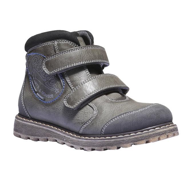 Dětská kotníčková obuv na suché zipy mini-b, šedá, 311-2101 - 13