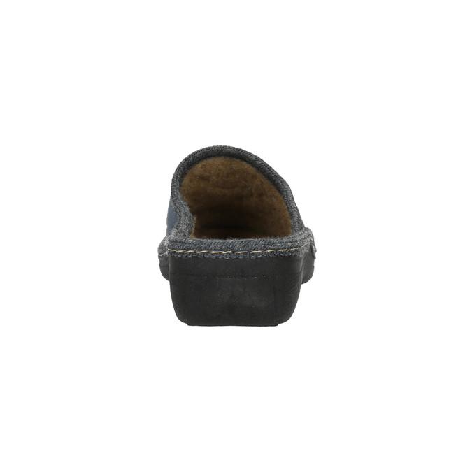 Domácí pantofle s výšivkou bata, šedá, 579-2280 - 17