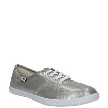 Dámské stříbrné tenisky bata, stříbrná, 519-1690 - 13