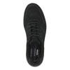 Ležérní kožené polobotky na výrazné podešvi rockport, černá, 826-6104 - 19