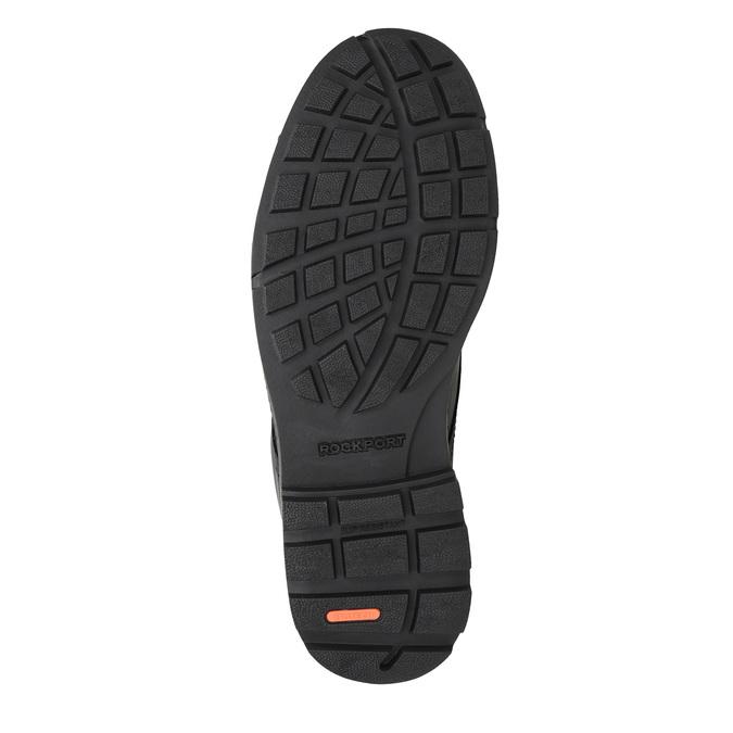 Ležérní kožené polobotky na výrazné podešvi rockport, černá, 826-6107 - 26