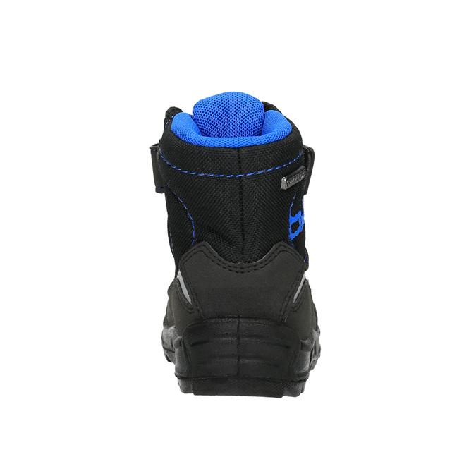 Dětská zimní obuv na suché zipy richter, černá, 129-6001 - 17