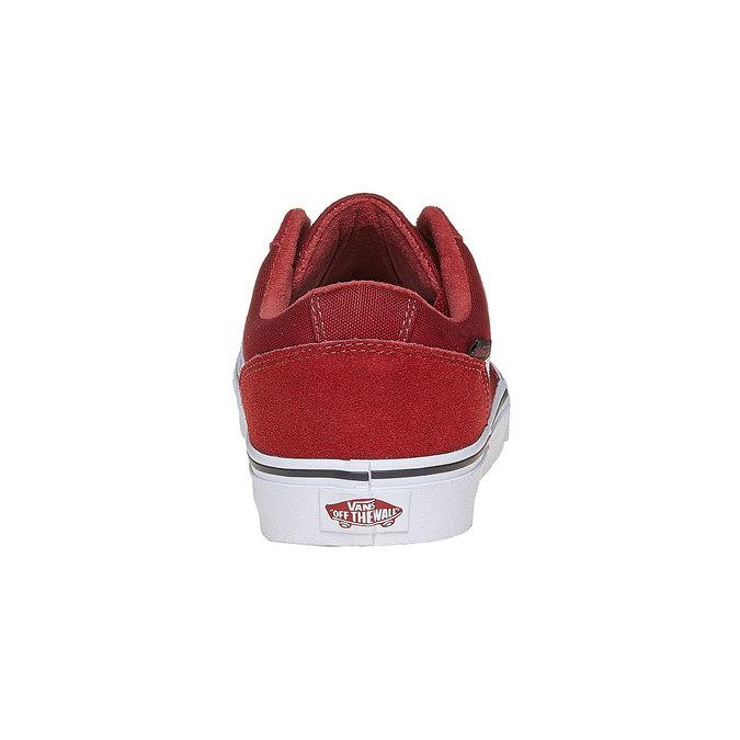 Pánské kožené tenisky vans, červená, 803-5303 - 17
