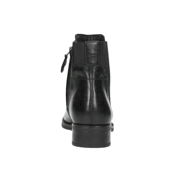 Kožená kotníčková obuv s pružením geox, černá, 514-6031 - 17
