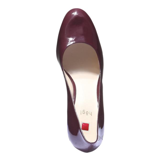 Kožené lodičky hogl, fialová, 728-5526 - 19