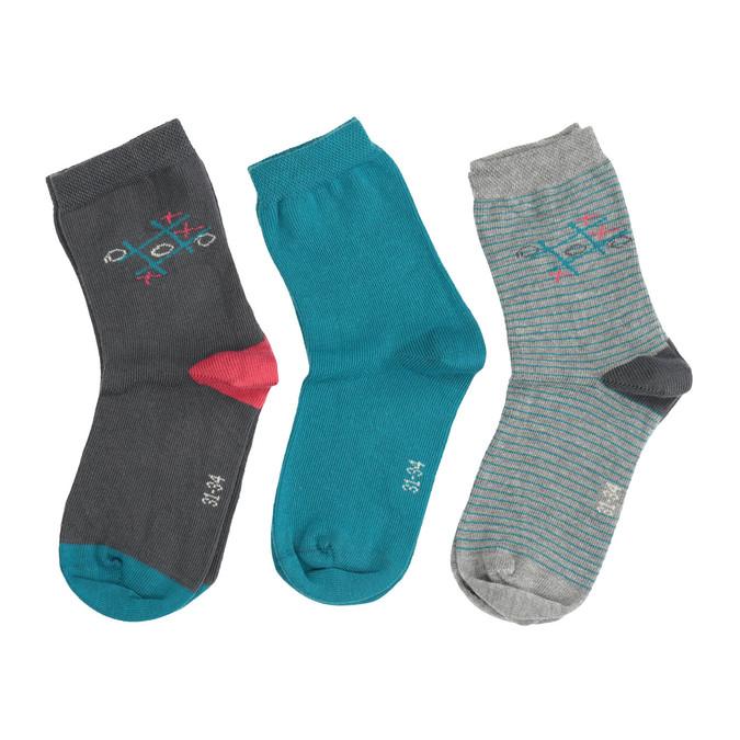 Dětské barevné ponožky 3 páry bata, 919-0593 - 26