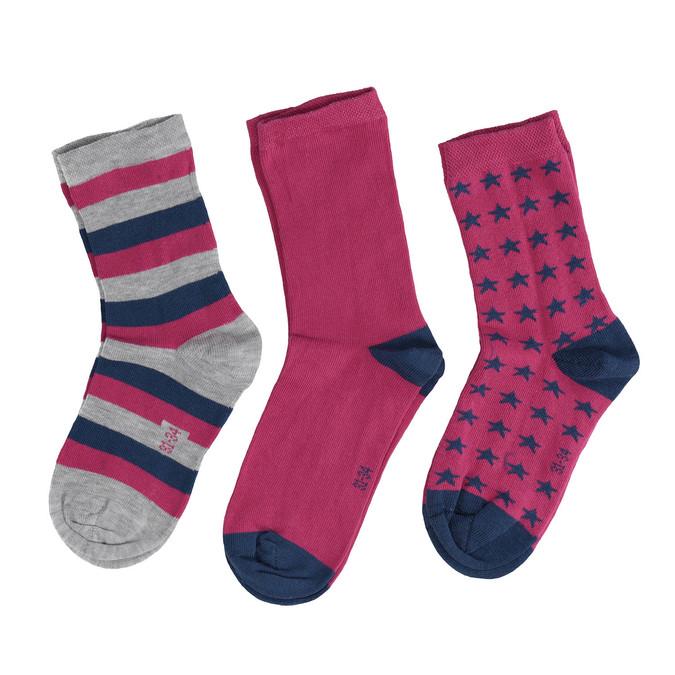 Dětské barevné ponožky 3 páry bata, 919-0494 - 26