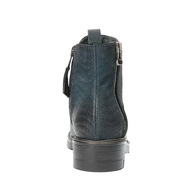 Kožená kotníčková obuv na výrazné podešvi bata, tyrkysová, 596-9615 - 17
