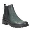 Kožená kotníčková obuv na výrazné podešvi bata, tyrkysová, 596-9615 - 13