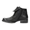 Kožená kotníčková obuv se širokým lemem bata, černá, 596-6617 - 26