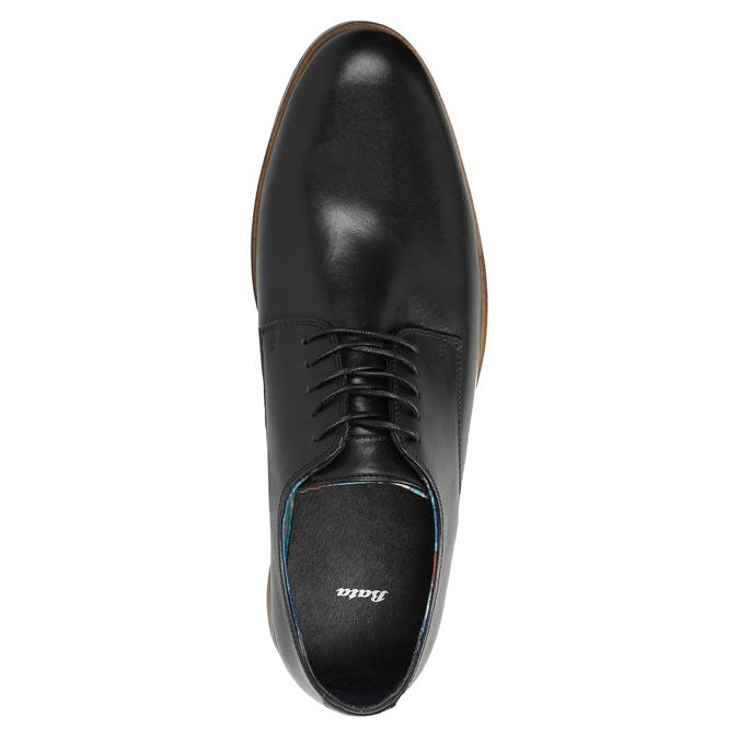 Kožené pánské polobotky bata, černá, 826-6643 - 19