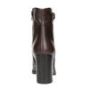 Kožená kotníčková obuv na podpatku bata, hnědá, 794-4635 - 17