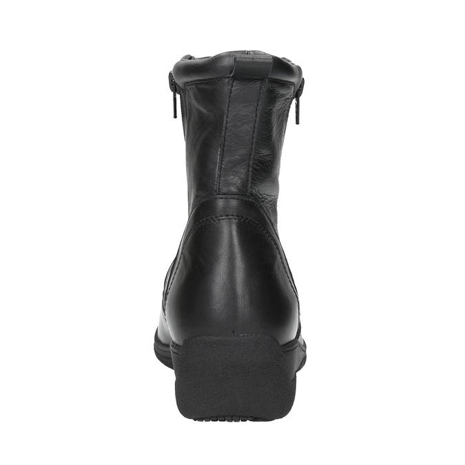 Kožená kotníčková obuv se zipy bata, černá, 594-6634 - 17