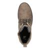 Dětská šněrovací obuv s kamínky mini-b, hnědá, 391-3262 - 19