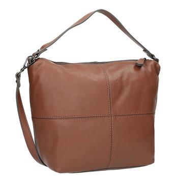 Kožená Hobo kabelka bata, hnědá, 964-4233 - 13