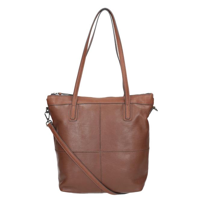 Hnědá kožená kabelka bata, hnědá, 964-3234 - 19