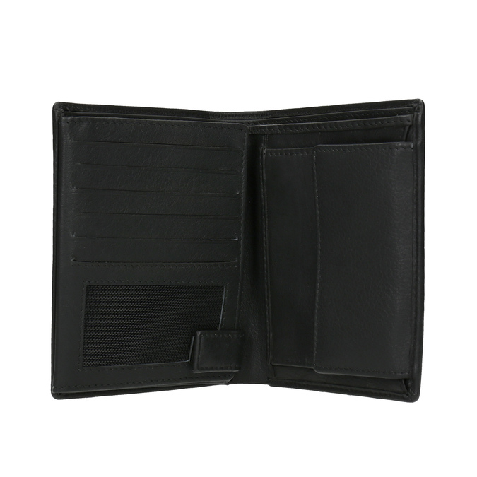Dárková sada kožené peněženky a opasku wildskin, černá, 966-6028 - 16