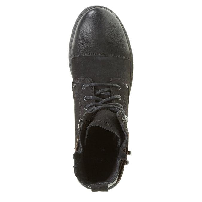 Kožené kotníkové boty bata, černá, 894-6165 - 19
