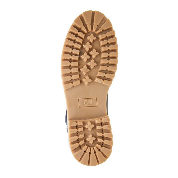 Kožené kotníčkové boty s výraznou podešví weinbrenner, modrá, 896-9102 - 26