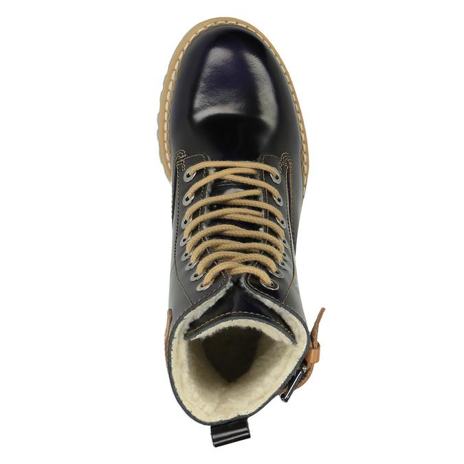 Kožená kotníčková obuv na průhledné podešvi weinbrenner, černá, 598-6602 - 19