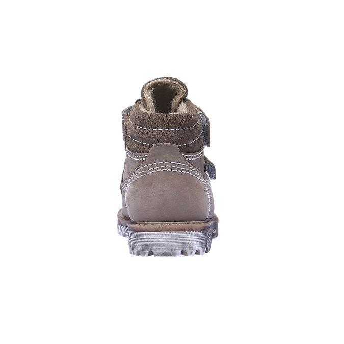Dětská kožená obuv richter, žlutá, 296-8002 - 17