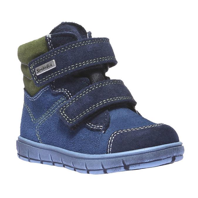 Dětská kožená obuv richter, modrá, 193-9004 - 13