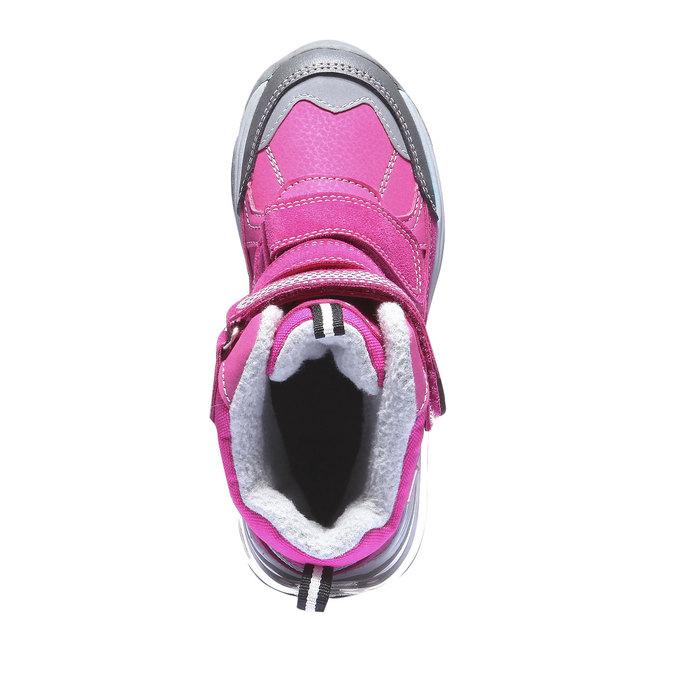 Kotníčková obuv s masivní podešví mini-b, růžová, 391-5100 - 19