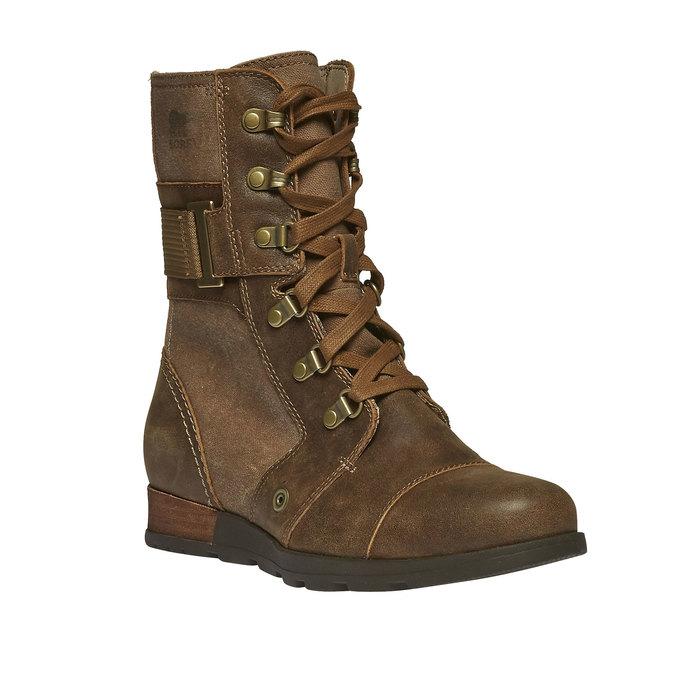 Kožená kotníčková obuv sorel, hnědá, 594-4039 - 13