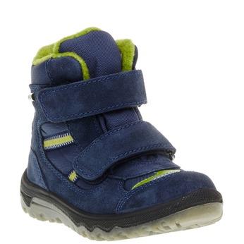 Kožené dětské boty mini-b, modrá, 293-9150 - 13