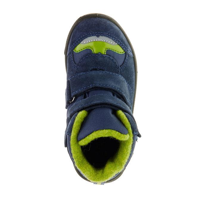 Kožené dětské boty mini-b, modrá, 293-9150 - 19