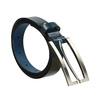 Kožený opasek s obdélníkovou sponou wildskin, modrá, 954-9013 - 13