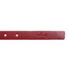 Kožený opasek s menší sponou wildskin, červená, 954-5013 - 16