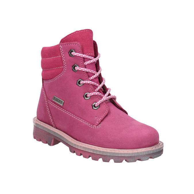 Kožená zimní obuv růžová richter, růžová, 296-5003 - 13