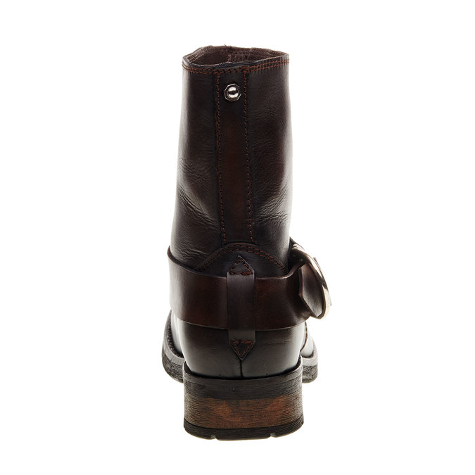 Kožená kotníčková obuv diesel, hnědá, 596-4108 - 17
