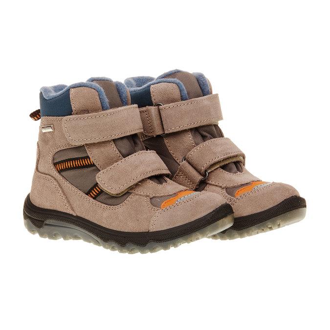 Kožené dětské boty mini-b, šedá, 293-2150 - 26