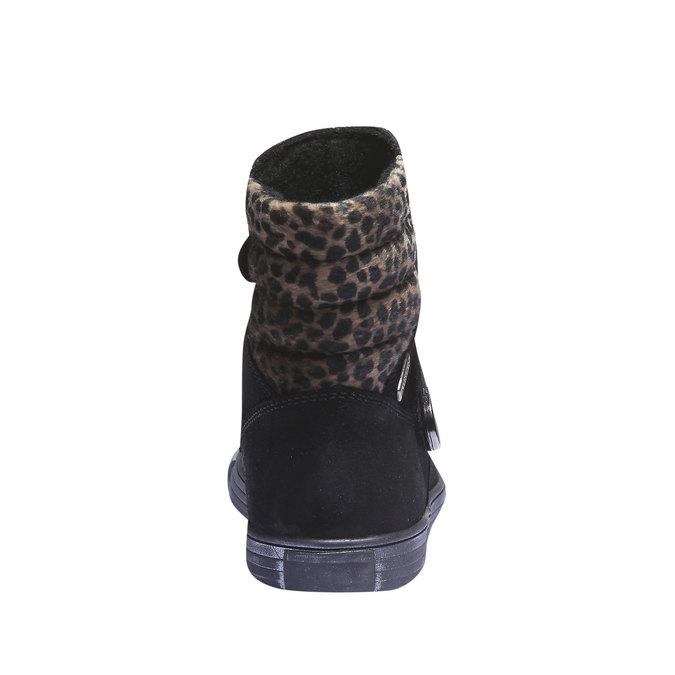 Dívčí kotníčková obuv richter, černá, 393-6003 - 17
