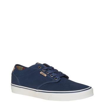 Pánské kožené tenisky vans, modrá, 803-9304 - 13